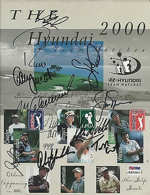 Hyundai Team Matches Jack Nicklaus Phil Mickelson AND More Signed Magazine PSA