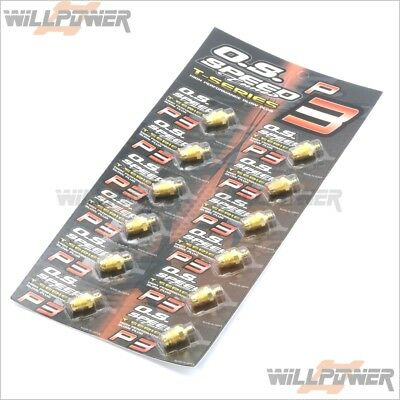 O.S. Speed P3 Turbo Glow Plug 24K Gold 12pcs (RC-WillPower) OS