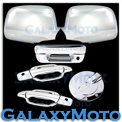 05-12 Chevy Colorado+Canyon Chrome Mirror+2 Door W.KH+Tailgate Handle+GAS Cover