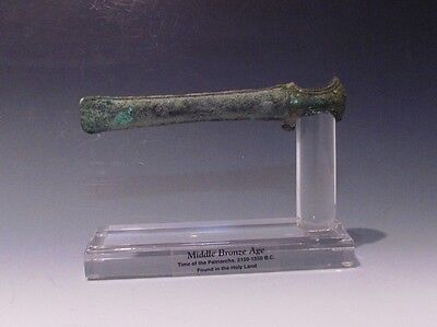 A Canaanite Bronze Socketed Axe Head
