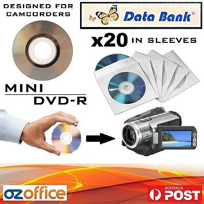 20 x Data Bank Mini DVD R Printable Handycam Camcorder DVD 8cm 30Mins 1.4GB