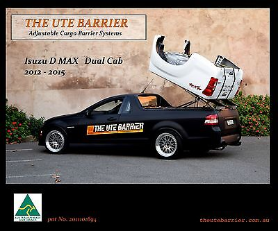 """THE UTE BARRIER ( ISUZU D-MAX DUAL CAB 2012-2016 ) """"Available with lights"""""""