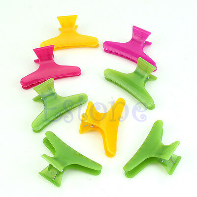 12Pcs Hairdressing Tool Butterfly Hair Claw Salon Section Clip Clamps Colorful