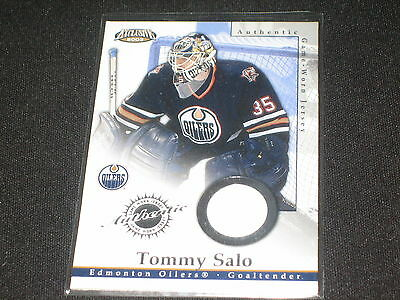 Tommy Salo Authentic Pack Pulled Game Used Jersey Certified Hockey Card Rare
