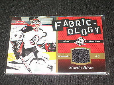 Martin Biron Authentic Pack Pulled Game Used Jersey Certified Hockey Card Rare