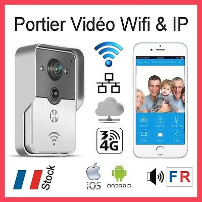 KONX® Interphone Wifi Portier Video IP Réseau  + Relais porte + Voix en Français