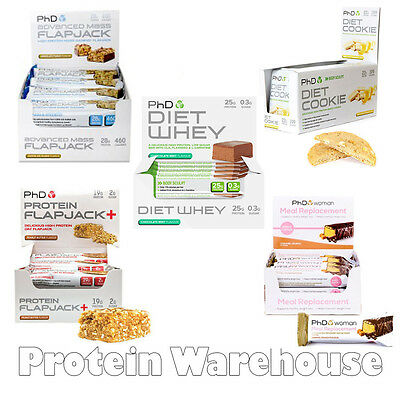 PhD Nutrition Protein Bars Flapjack Diet Whey Advanced Mass Cookies From PhD