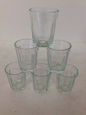 New Home Essentials And Beyond Package of 6 pc Set Clear Glass Shot Glasses