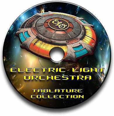 Electric Light Orchestra Elo Rock Guitar Tabs Tablature Song Book Software Cd