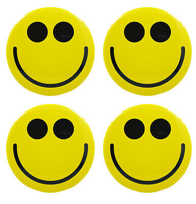 YELLOW SMILEY FACE FRIDGE MAGNETS **32mm (1.25 inch)** - Gift & Kitchen