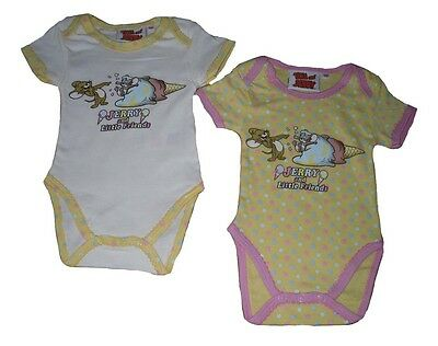 Baby Girls BodySuits 2 Pack Short Sleeved Tom And Jerry