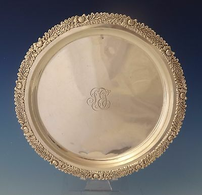 Chrysanthemum By Tiffany And Co Sterling Silver Salver Tray (#0131)