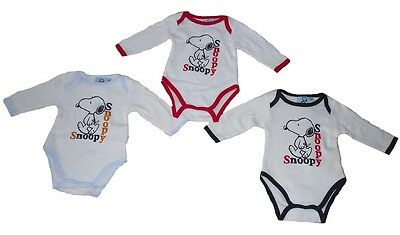 Baby Boys Vest Tops Long Sleeved Snoopy 3-23 Months
