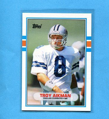 Troy Aikman Dallas Cowboys 1989 Topps Football Nfl Rookie Card #70T