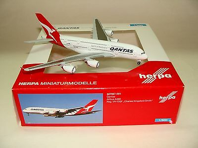 507967-001 1:500 Herpa Wings Qantas Airbus A380-800 VH-OQF free shipping