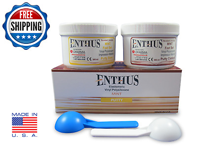 Enthus Putty FAST Set VPS Impression Material 300 ML Each Of Base & Catalyst PVS
