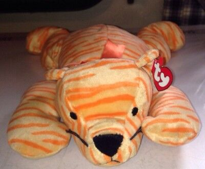 TY 1996 Orange Tiger Purr Pillow Pal