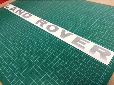 Land Rover Sticker Vinyl Decal 560mm x 35mm Silver Defender Discovery 90 110 TD5