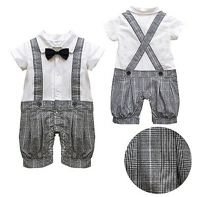 Baby Page Boy Formal Christening Wedding All in 1pc Short Outfit From 0-24 Month