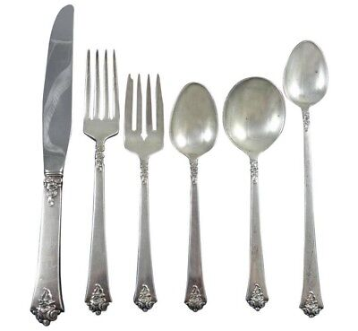 Castle Rose by Royal Crest Sterling Silver Flatware Set For 8 Service 54 Pieces