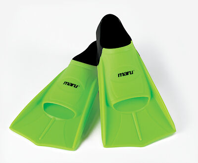Maru Training Fins   Neon Lime/Black