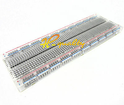 5PCS MB-102 Transparent Material 830Point Solderless PCB Bread Board