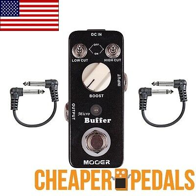 NEW MOOER Micro BUFFER Pedal +  2 *FREE* Cables + Shipping!