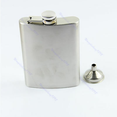 New 8oz Stainless Steel Liquor Alcohol Drink Hip Party Flask + Funnel