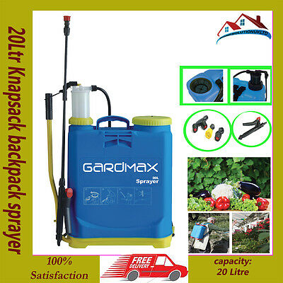 20Ltr Knapsack backpack sprayer chemical pressure garden for water weed killer