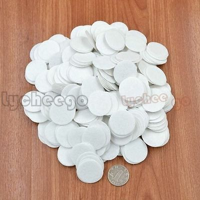 500pcs White 30mm Felt Circle Round Appliques Pads For Flower Craft Sewing DIY