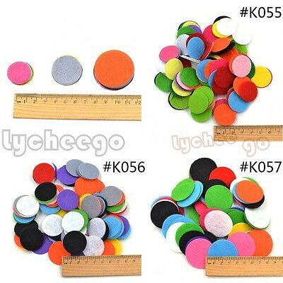 100pcs Mixed Colours Felt Circle Round Appliques Pads For Flower Craft Sewing