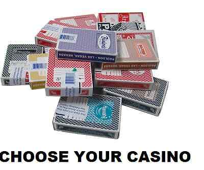 Single Deck Las Vegas Casino Playing Cards - 30+ To Choose  All Popular Casinos