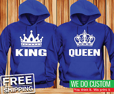 Matching Couple Hoodies - King and Queen Couple Matching Hoodies