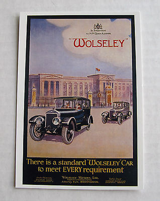 Wolseley Cars  - Postcard