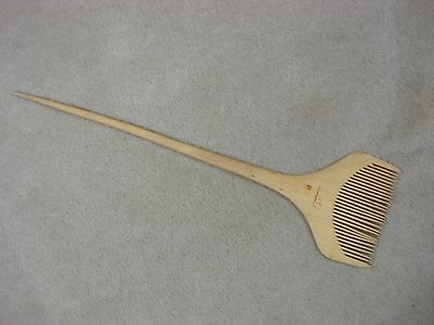 Antique Chinese Pear Wood Beard Comb With Pick! Unique - New Never Used!