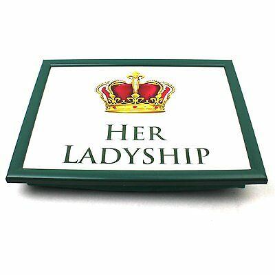 Her Ladyship Laptray Dinner Food Serving Tray With Padded Bean Cushion Bag
