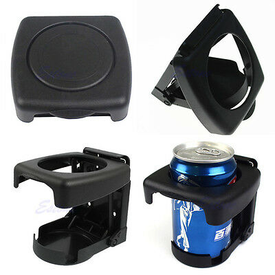Plastic Folding Car Drink Cup Holder Truck Can Bottle Stand Travel ndw black