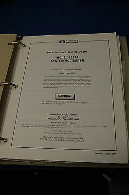 HP System Voltmeter 3437A Operating & Service Manual