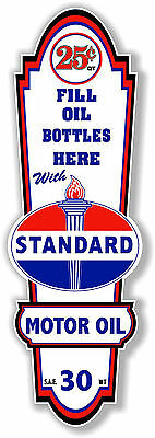 "24"" X 8"" Standard Gasoline Lubster Front Decal Lubester Oil Can / Gas Pump"