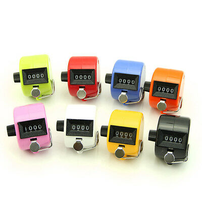 NEW Digital Hand Held Tally Clicker Counter 4 Digit Number Clicker Golf Chrome