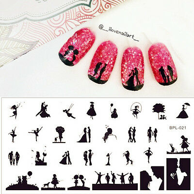 BORN PRETTY Nail Art Stamping Plate Scetch Pattern Image Stamp Template BP-L021