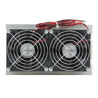 120W Thermoelectric Peltier Refrigeration Cooling System Kit Cooler Double Fan