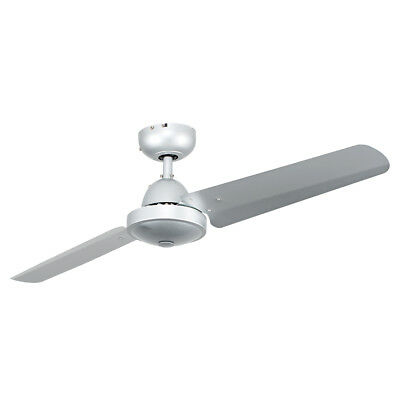 Large Silver 2 Blade Propeller Style Remote Control Ceiling Fan - Without Light