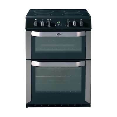 Belling FSE60DOP A 60cm Electric Ceramic Double Oven Cooker in Stainless Steel