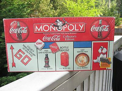 COCA COLA Collectors Edition Monopoly Board Game SEALED Box Never Opened
