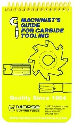 New Morse Pocket Machinist's Guide for Carbide Tooling, Manual, Handbook, DD
