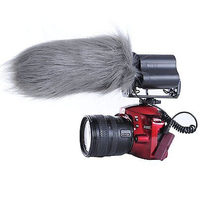 "Movo WS3 Furry Outdoor Shotgun Microphone Windscreen Muff (Fits up to 7"" X 55mm)"
