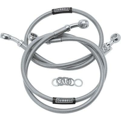 Russell Extended Length Braided Front Brake Line Kit  21in. R08909S*