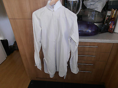 "Vtg Shepherd & Woodward  Men's Marcella fronted Dress Shirt sz14"" C/w Collar"