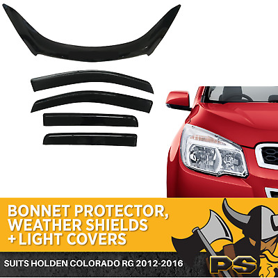 Holden Colorado RG Dual Cab BONNET PROTECTOR ,WEATHER SHIELDS & Headlight COVERS